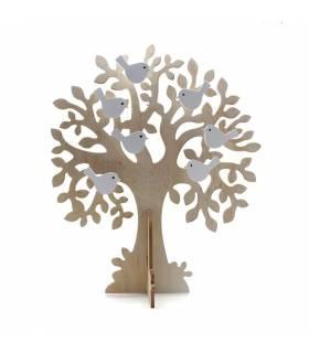 Arbol madera pajaritos